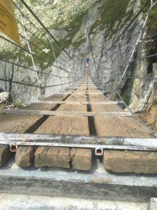 Salbitbrucke suspension bridge